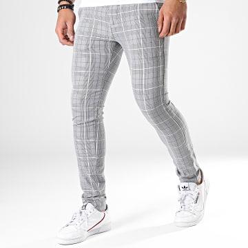 Pantalon A Carreaux M-3108 Gris