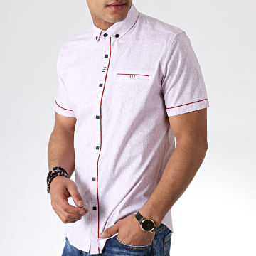 Chemise Manches Courtes Y-3393 Blanc Rouge