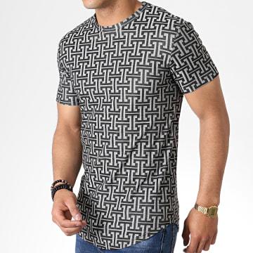 Tee Shirt Oversize UY371 Noir Gris Renaissance