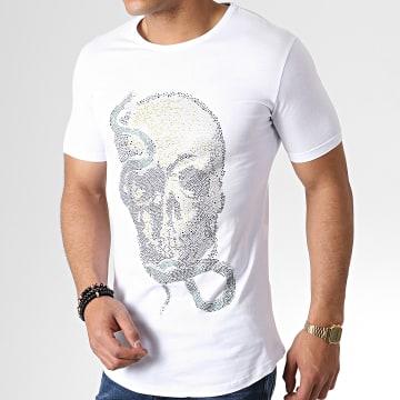 Ikao - Tee Shirt Oversize A Strass F549 Blanc