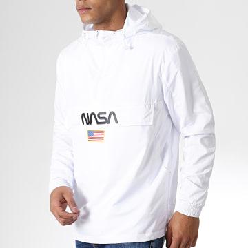 NASA - Coupe-Vent Worm Logo Blanc