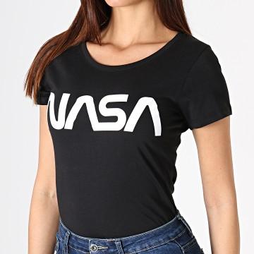 NASA - Tee Shirt Femme Worm Logo Noir