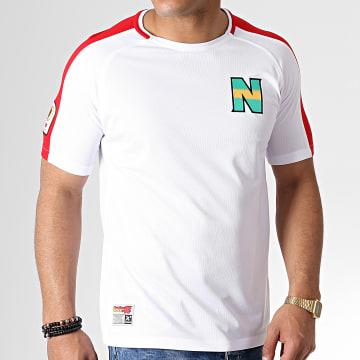 Tee Shirt De Sport A Bandes Olive Et Tom New Team 2 Blanc Rouge