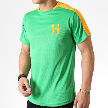 Tee Shirt De Sport A Bandes Olive Et Tom Hotdog Vert Orange