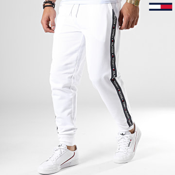 Pantalon Jogging A Bandes Track 0706 Blanc