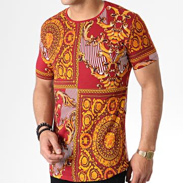 Tee Shirt Oversize Renaissance HNF001 Rouge Foncé Doré Orange