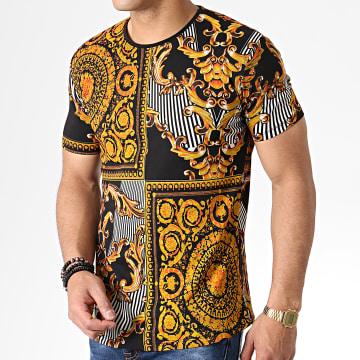 Tee Shirt Oversize Renaissance HNF001 Noir Doré Orange