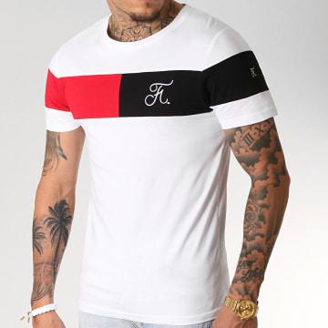 Final Club - Tee Shirt Tricolore Avec Broderie 228 Blanc