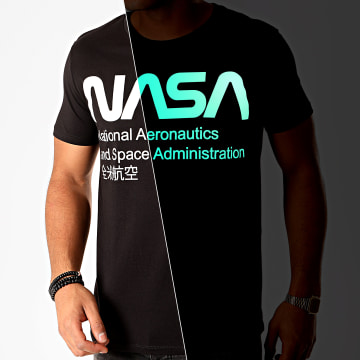NASA - Tee Shirt Glow In The Dark Noir