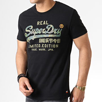 Superdry - Tee Shirt Vintage Logo Fero M10155TU Noir