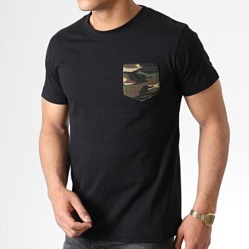 Urban Classics - Tee Shirt Poche TB492 Noir Vert Kaki Camouflage