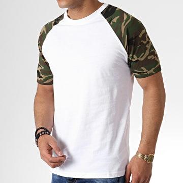 Urban Classics - Tee Shirt TB639 Blanc Camouflage Vert Kaki