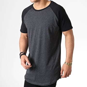 Urban Classics - Tee Shirt Oversize TB966 Gris Anthracite Chiné Noir