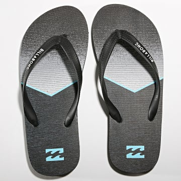 Billabong - Tongs Tides 73 Stripe Noir Bleu Ciel