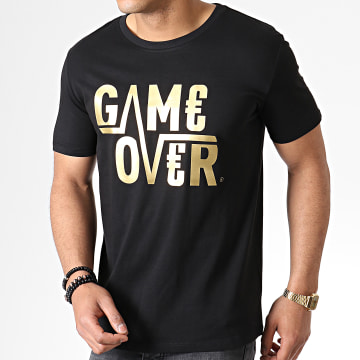Tee Shirt Game Over Noir Or