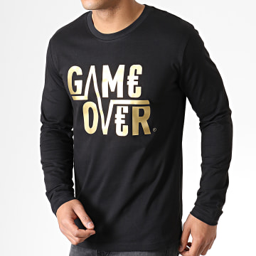 Tee Shirt Manches Longues Game Over Noir Or