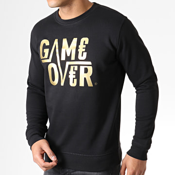 Sweat Crewneck Game Over Noir Or