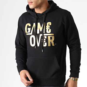 Sweat Capuche Game Over Noir Or