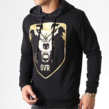 Game Over - Sweat Capuche Wolf Noir Or