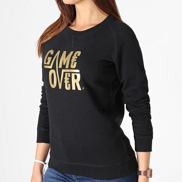 Game Over - Sweat Crewneck Femme Game Over Noir Or