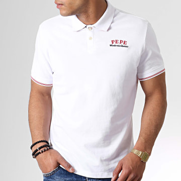 Pepe Jeans - Polo Manches Courtes Fell PM541218 Blanc