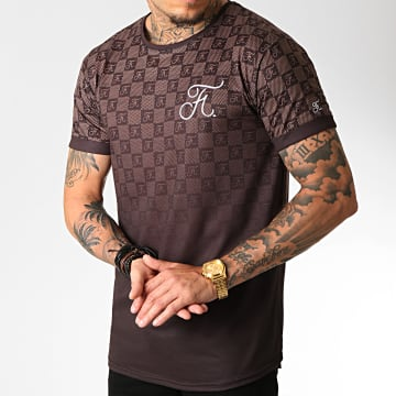 Tee Shirt Oversize Damier Dégradé Avec Broderie 255 Brown
