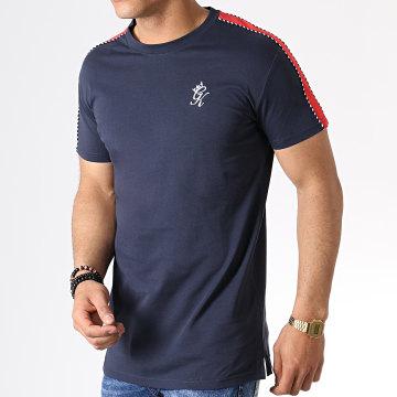 Gym King - Tee Shirt A Bandes Jones Bleu Marine Rouge
