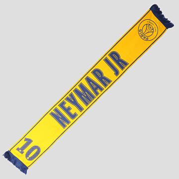 PSG - Echarpe Neymar Jr P12128 Bleu Roi Jaune Moutarde
