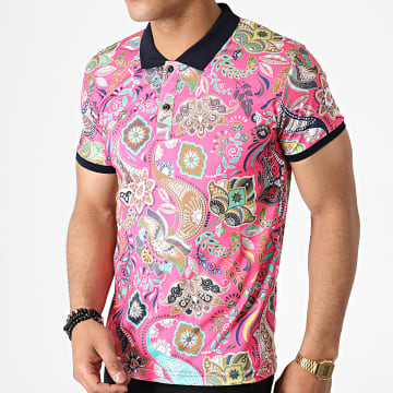 Polo Manches Courtes Floral 5002 Rose