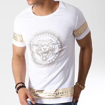 Tee Shirt 7436 Blanc Doré