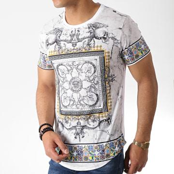 Tee Shirt Oversize Renaissance AJ975 Blanc Gris