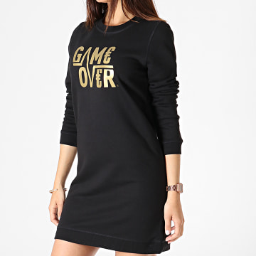 Game Over - Robe Femme Logo Noir Or