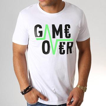 Game Over - Tee Shirt Flash Blanc