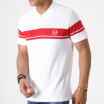 Polo Manches Courtes Young Line 36639 Blanc Rouge