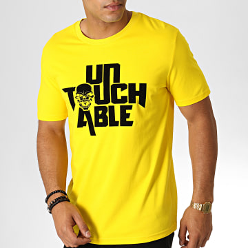 Untouchable - Tee Shirt Logo Jaune Noir