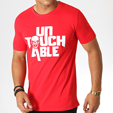 Untouchable - Tee Shirt Logo Rouge Blanc