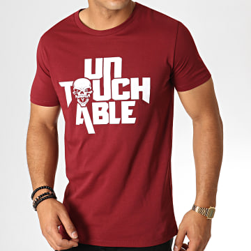 Untouchable - Tee Shirt Logo Bordeaux Blanc