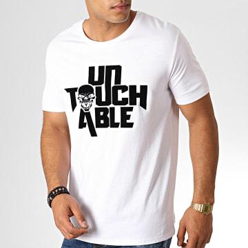 Untouchable - Tee Shirt Logo Blanc Noir