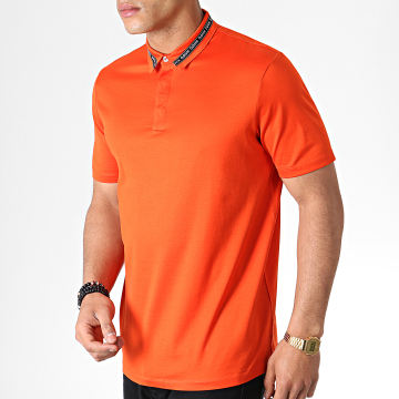 Polo Manches Courtes Reverse Logo Divorno 50410877 Orange