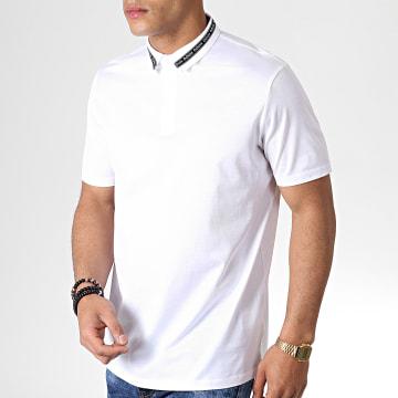 HUGO by Hugo Boss - Polo Manches Courtes Reverse Logo Divorno 50410877 Blanc