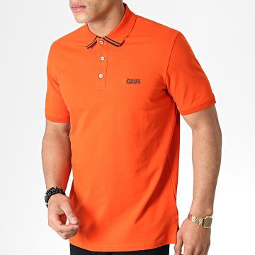 HUGO by Hugo Boss - Polo Manches Courtes Reverse Logo Dyler 50410892 Orange Noir