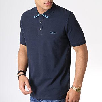 HUGO by Hugo Boss - Polo Manches Courtes Reverse Logo Dyler 50410892 Bleu Marine Bleu Ciel