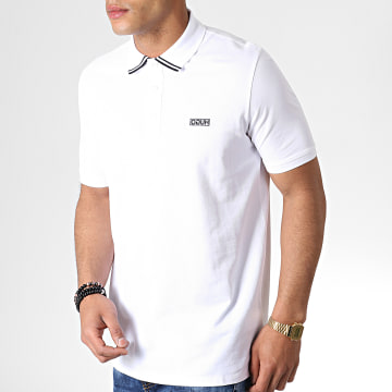 Polo Manches Courtes Reverse Logo Dyler 50410892 Blanc Noir