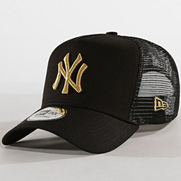 New Era - Casquette Trucker Adjustable LaBoutique New York Yankees Noir Or