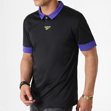 Reebok - Tee Shirt De Sport Classic Football FI2886 Noir Violet Vert Fluo