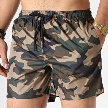 Short De Bain Camouflage Columbia Vert Kaki