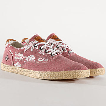 Classic Series - Chaussures Churchill Rouge Floral