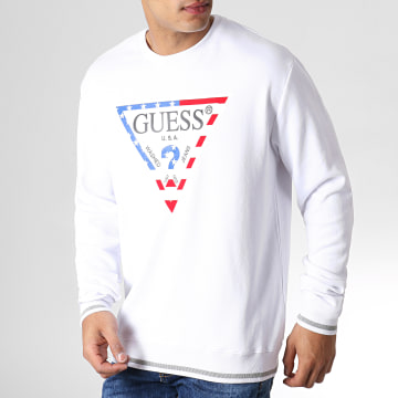Guess - Sweat Crewneck M93Q39K8S70 Blanc