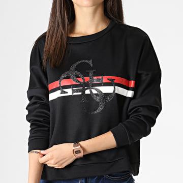 Sweat Crewneck Femme W93Q48K7EX0 Noir Rouge Blanc