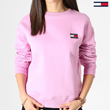 Sweat Crewneck Femme Badge 6814 Rose